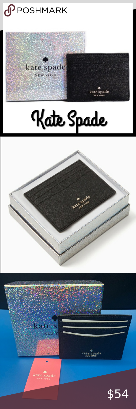 Kate Spade Lola Flitter Card Holder Kate Spade Lol