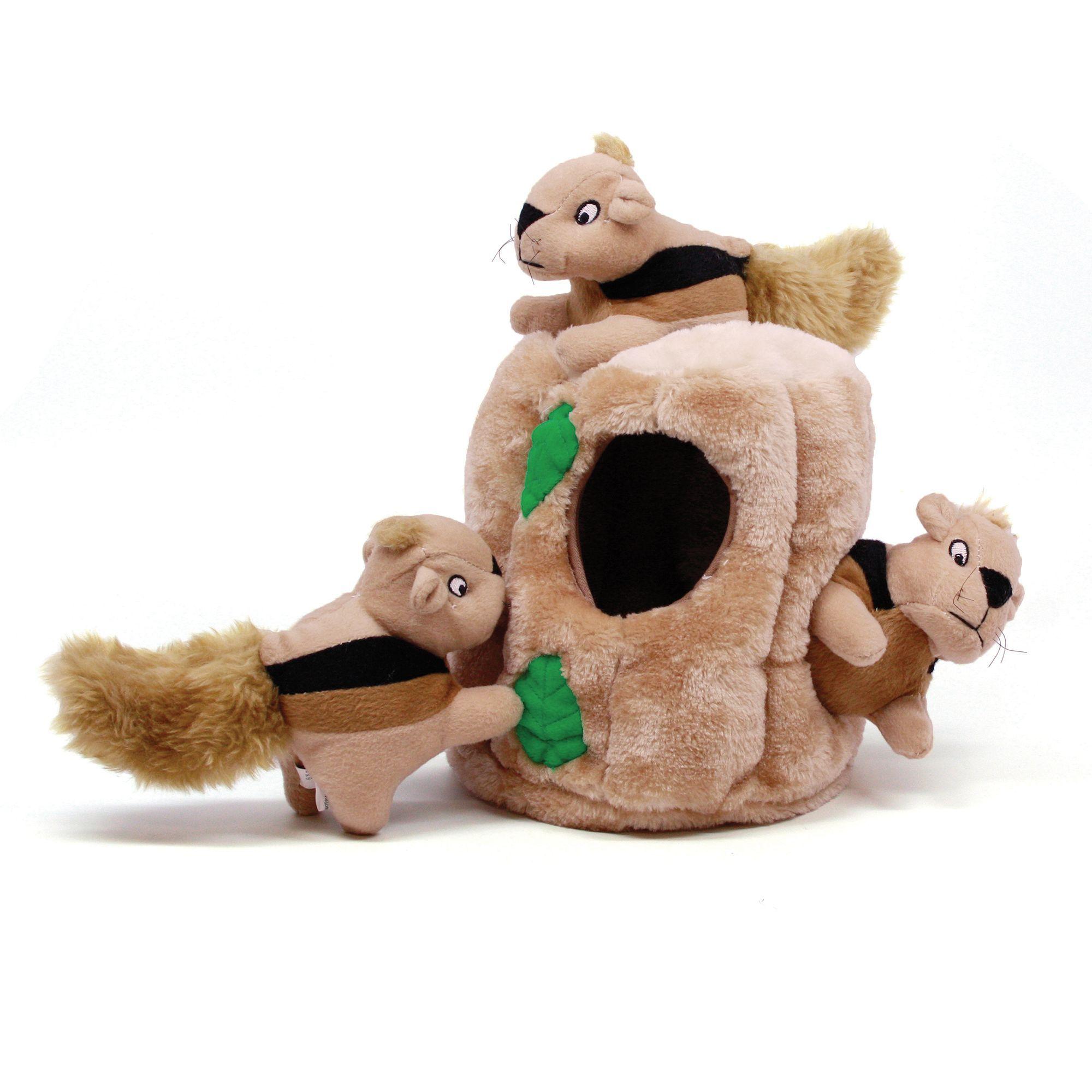 Outward Hound Hide A Squirrel Puzzle Dog Toy Plush Squeaker