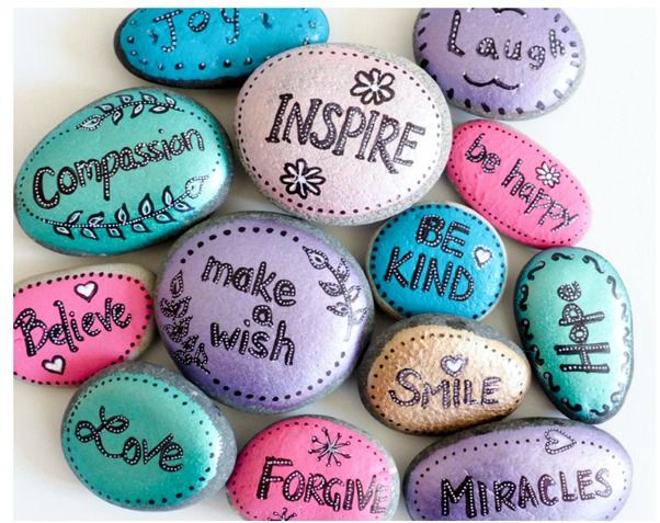 Painted rocks round up bee crafts rock and craft for Where to buy rocks for crafts