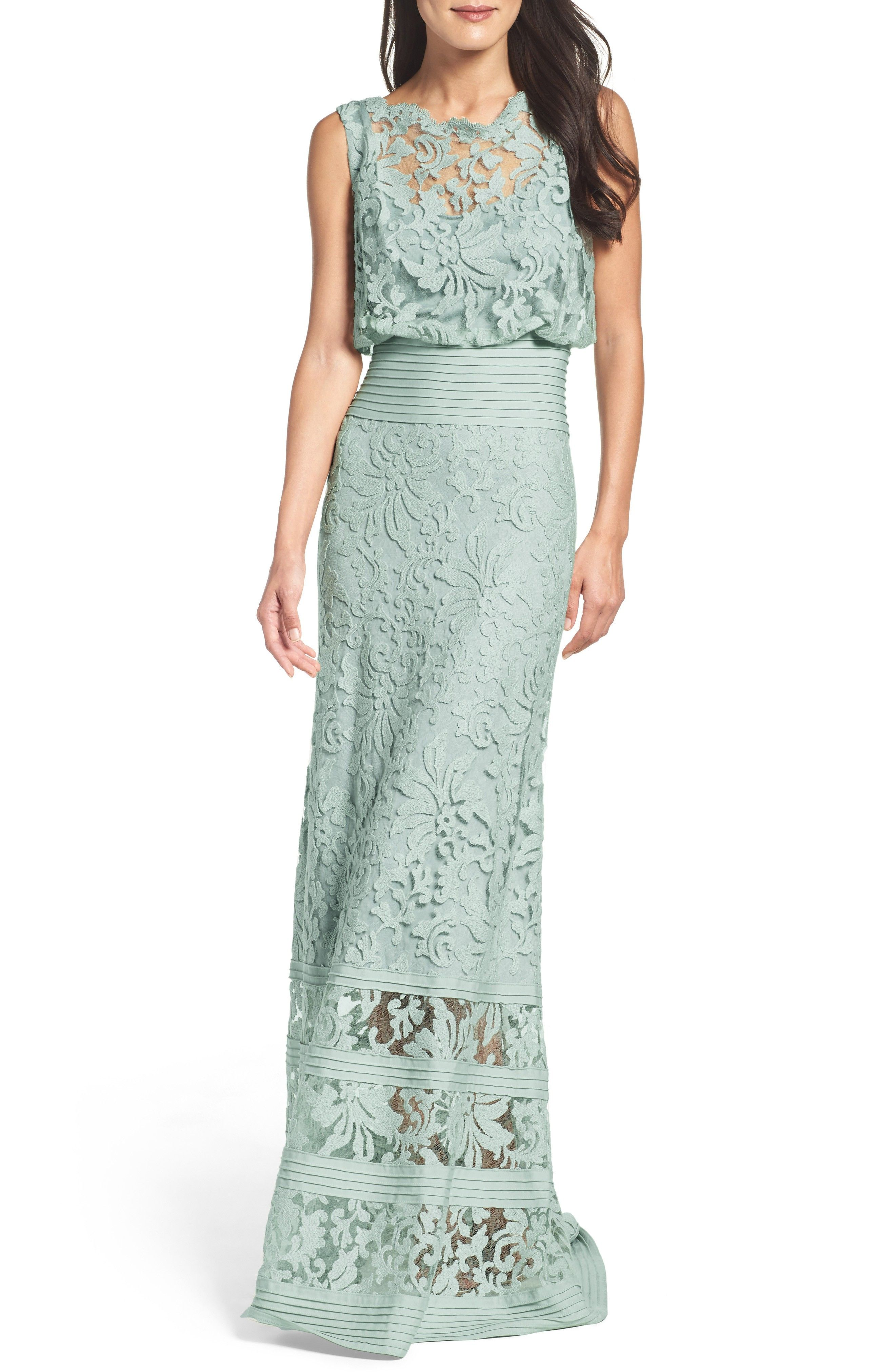 Blouson Gown Light Mint Green Dress For The Mother Of The Bride