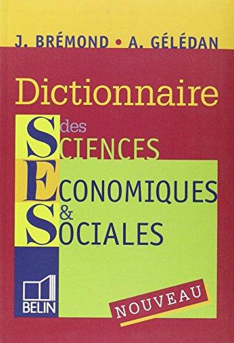 Dictionnaire Des Sciences Economiques Et Sociales En Ligne Sciences Economiques Science Economique Et Sociale Dictionnaire