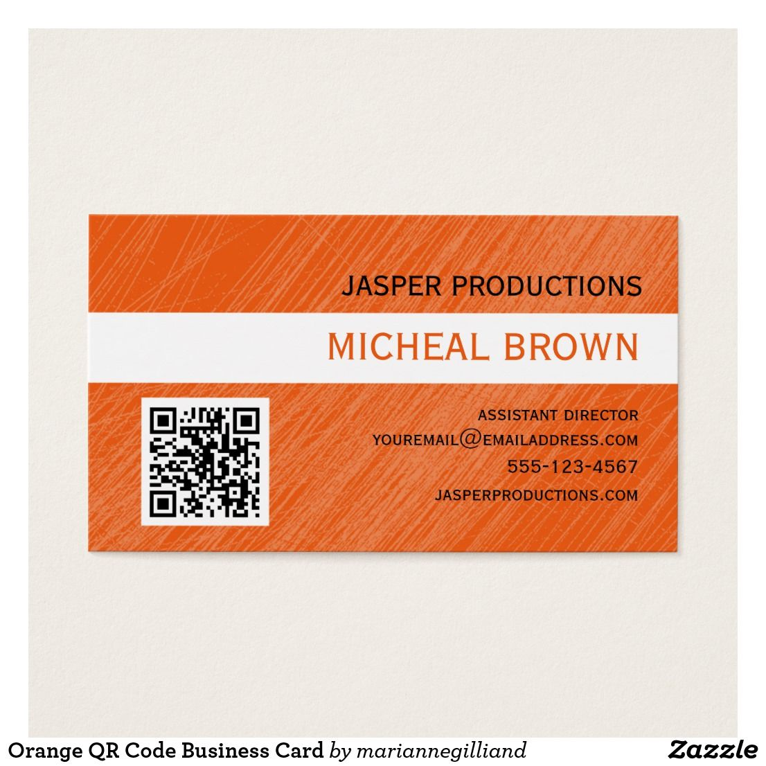Orange QR Code Business Card   Business cards, Qr codes and Business