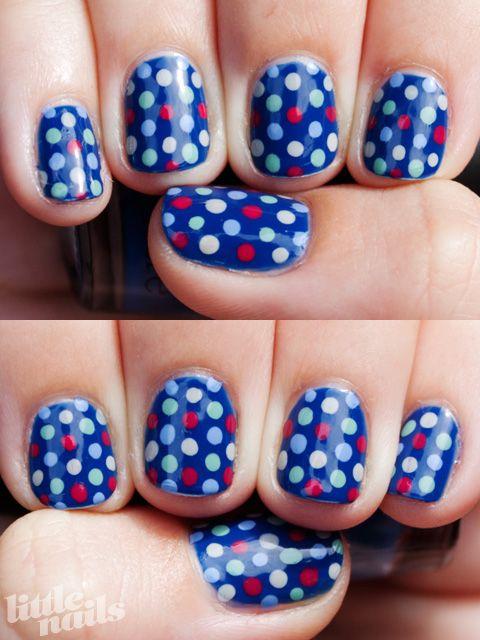 perfect BLUE polka dots.