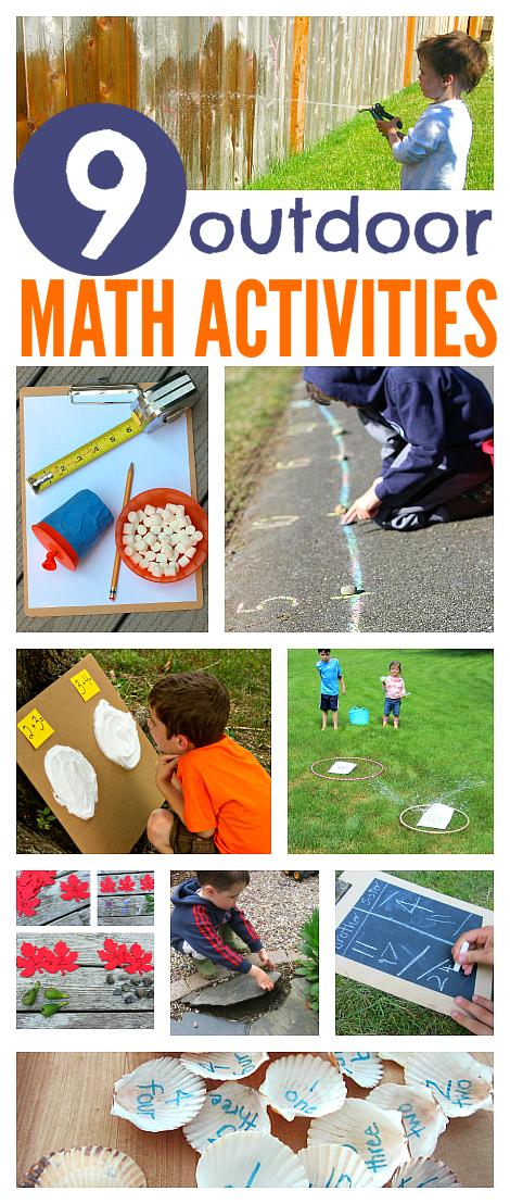 Outdoor Math Activities For Kids   Pinterest   Math activities, Math ...