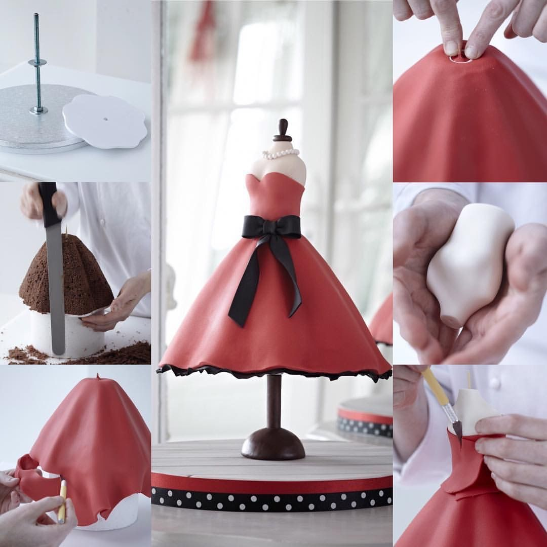 Floating dress cake. How to  9106fc9799