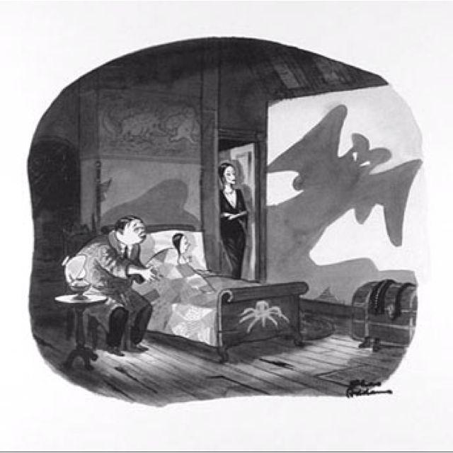 #charlesaddams #addamsfamily #illustrations
