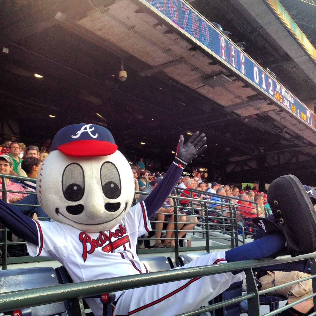 Kicking Back In The Stands Atlanta Braves Game Atlanta Braves Braves