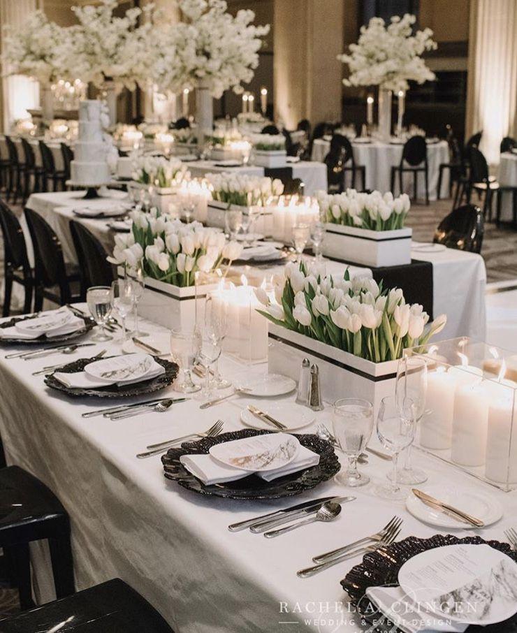 Black and White tablescape by Rachel A Clingen