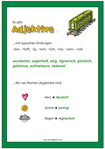 adjektive wandpl ch adjektive f r kinder adjektive aufgabenkarten und adjektive deutsch. Black Bedroom Furniture Sets. Home Design Ideas