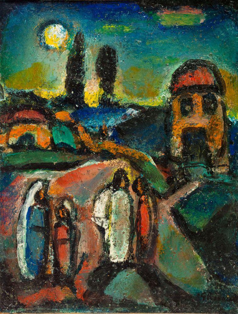 Pastorale chrétienne' (1945) by Georges Rouault | Fauvisme, Art chrétien,  Art spirituel