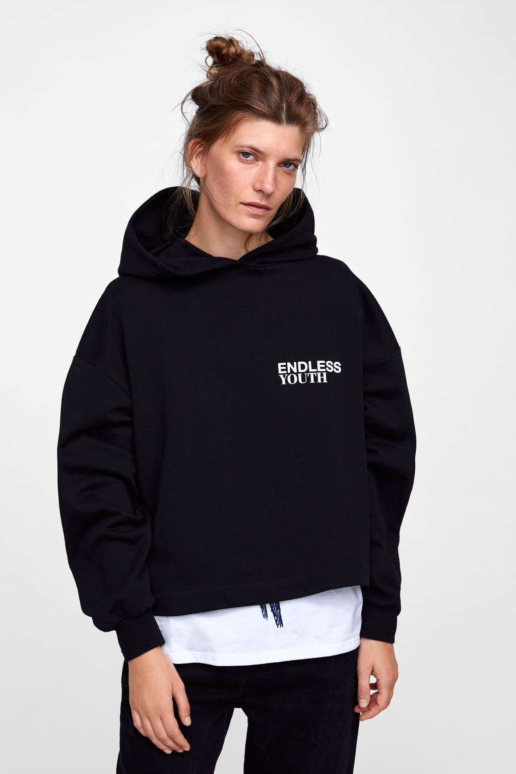 e2bbb932 Image 4 of HOODIE WITH BACK PRINT from Zara | birthday | Hoodies ...