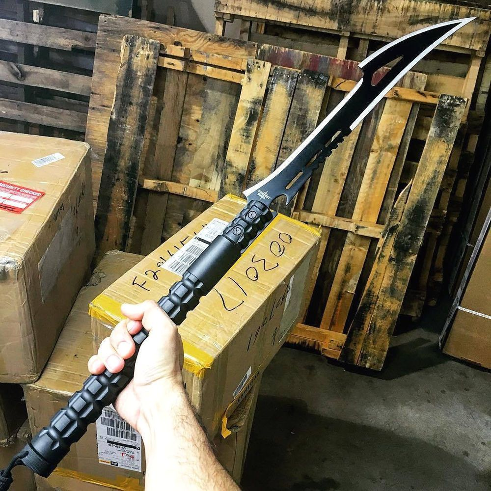 """28"""" TACTICAL SURVIVAL Fixed Blade ZOMBIE MACHETE Hunting"""