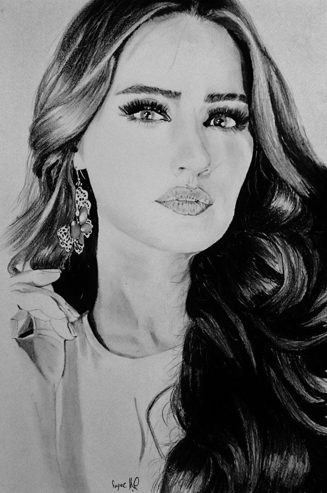 رسم امرأة الفنان فايز زياز Artwork Art Painting