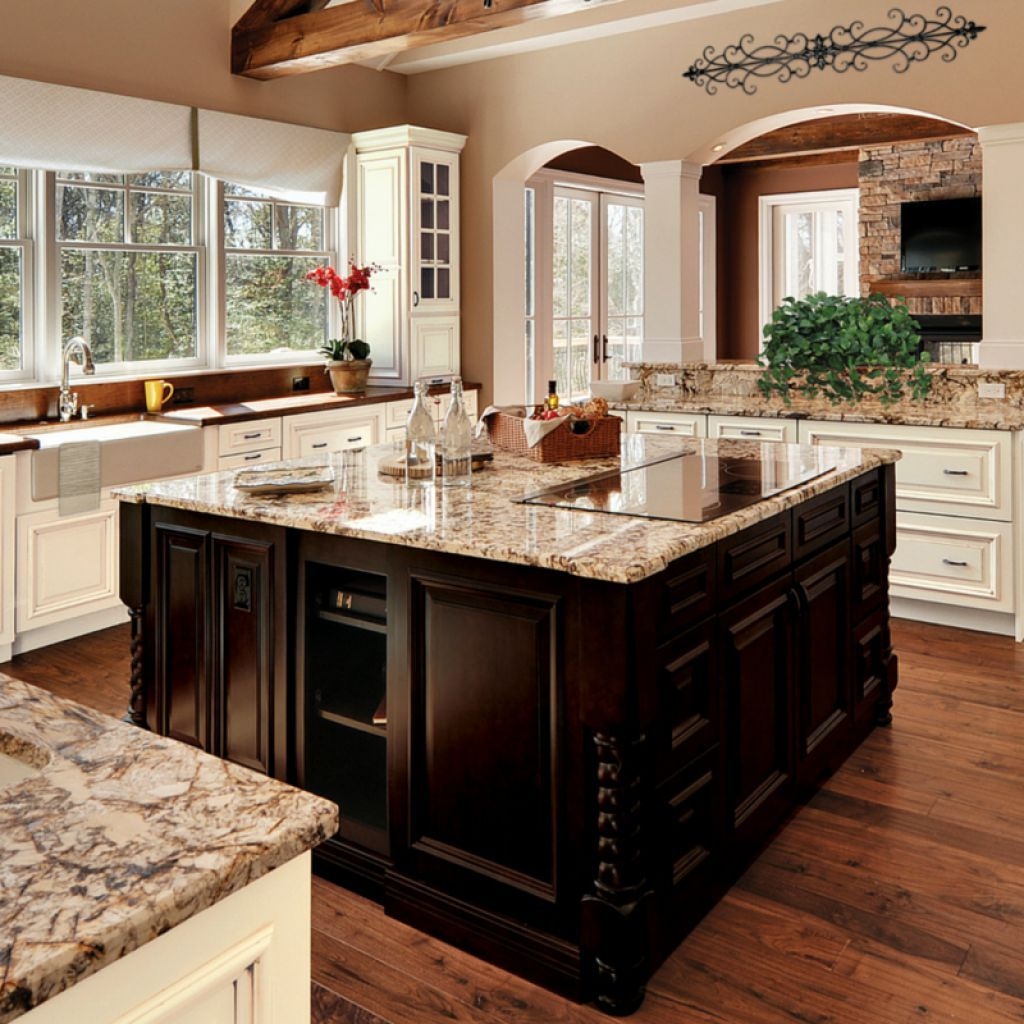 How To Update Your House From The Tuscan Brown Trend: Tuscan Kitchen Style Using Granite Countertops And