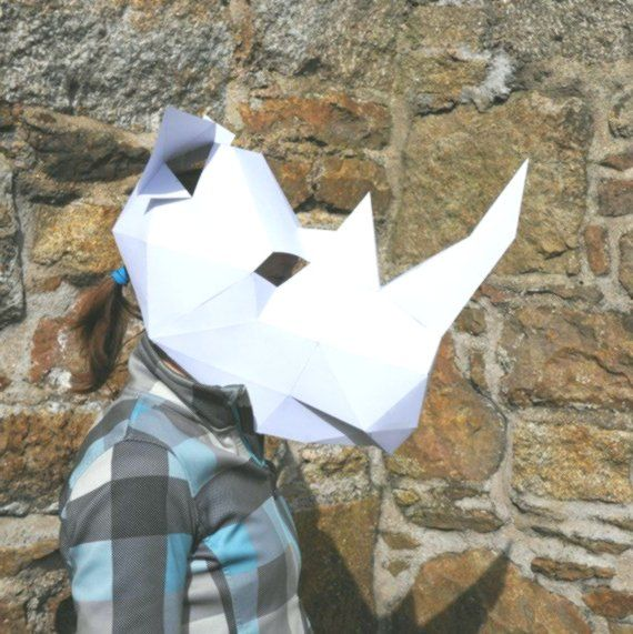 Rhino Mask  make your own animal mask using a simple digital download