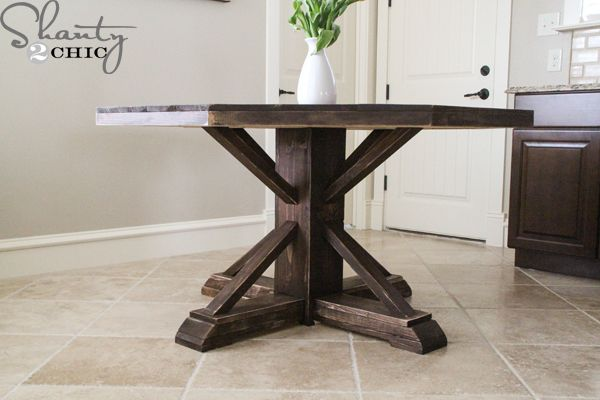 DIY Pottery Barn Inspired Round Table For $110!!!! Love This!