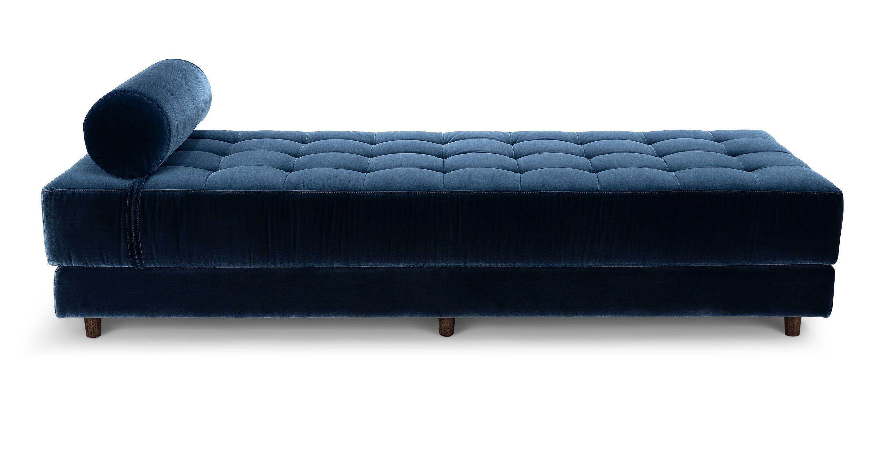 Blue Velvet Tufted Daybed Article Sven Modern Bedroom Furniture