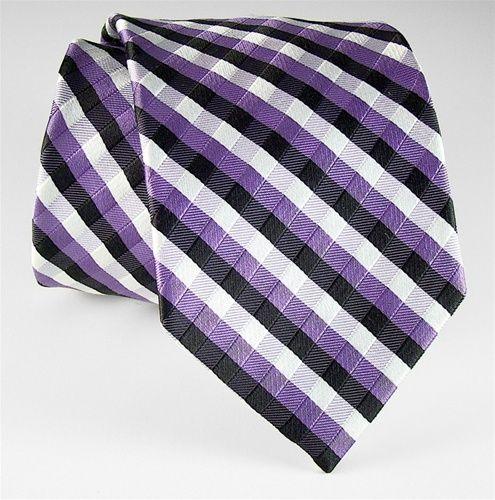 Purple, Black & White Checkered