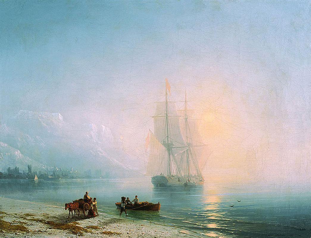 Sea at night - Ivan Aivazovsky - WikiArt.org