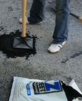 Do it yourself driveway repair for the home pinterest driveway repair and diy pothole repair made simple with ez street cold asphalt solutioingenieria Images