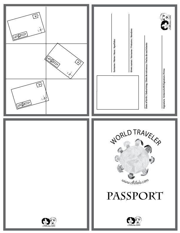 passport template - passport for kids - passport -   www - passport template