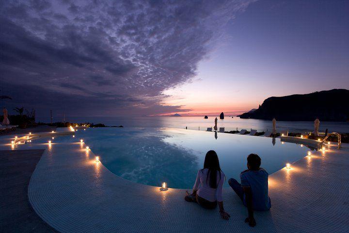 Therasia Resort Sea Spa On The Island Of Vulcano Off The Coast