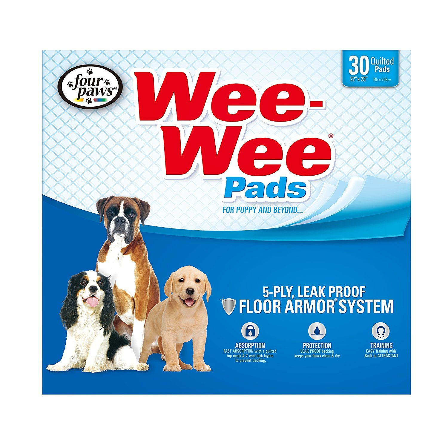 Four Paws WeeWee Standard Puppy Pads, 30 Ct * Wonderful
