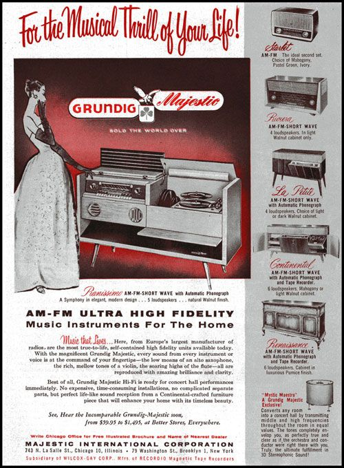 Grundig Majestic Ad Vintage Advertisements Short Waves Majestic