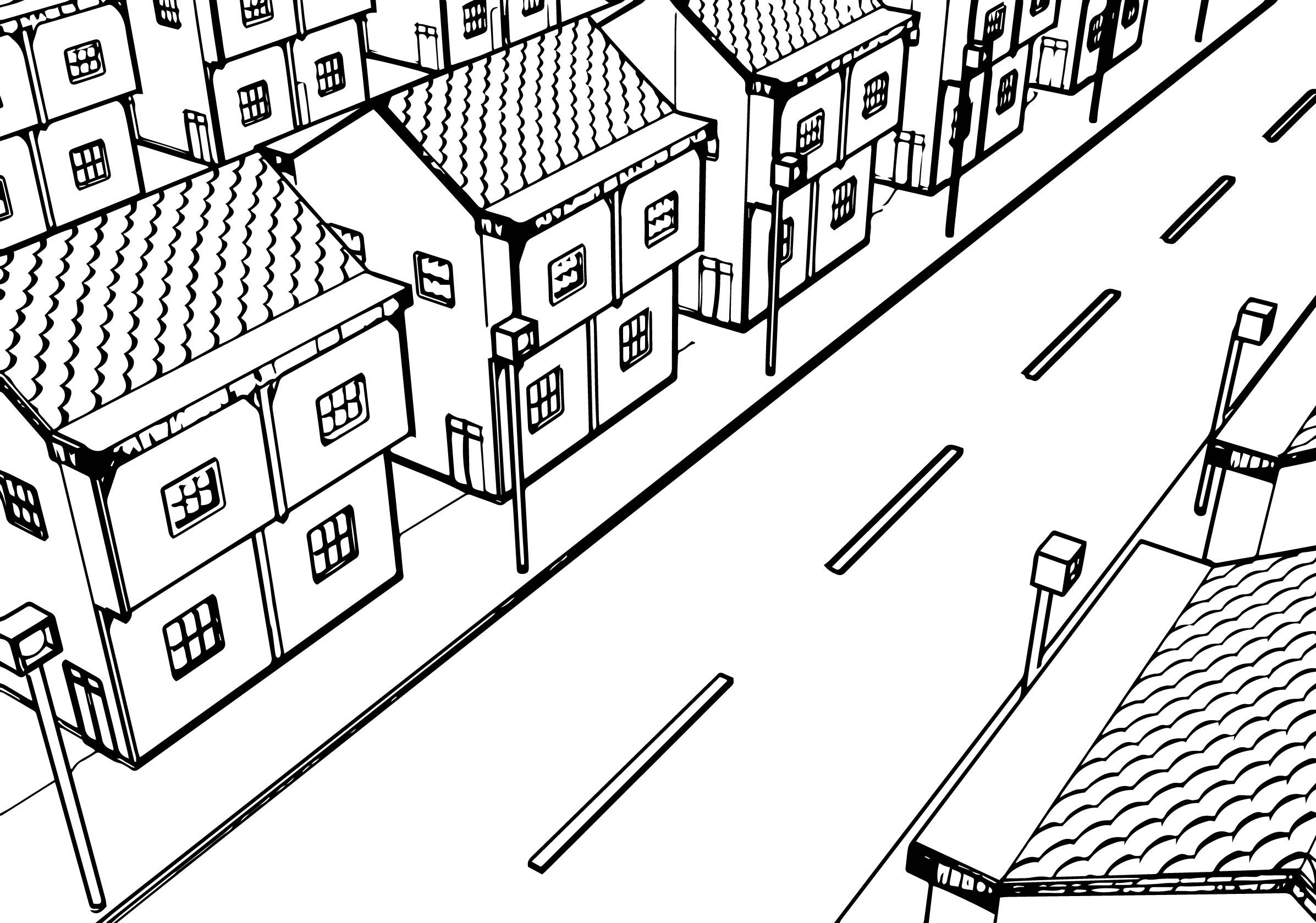 Cool Street Coloring Pages Check More At