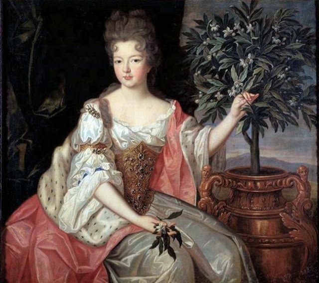 Francoise Marie de Bourbon Duchesse d'Orleans daughter of Louis XIV and Madame de Montespan by Pierre Gobert