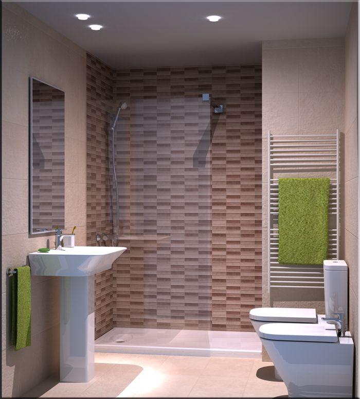 Azulejos ba os dos colores combinaciones de colores para - Azulejos mosaicos para banos ...