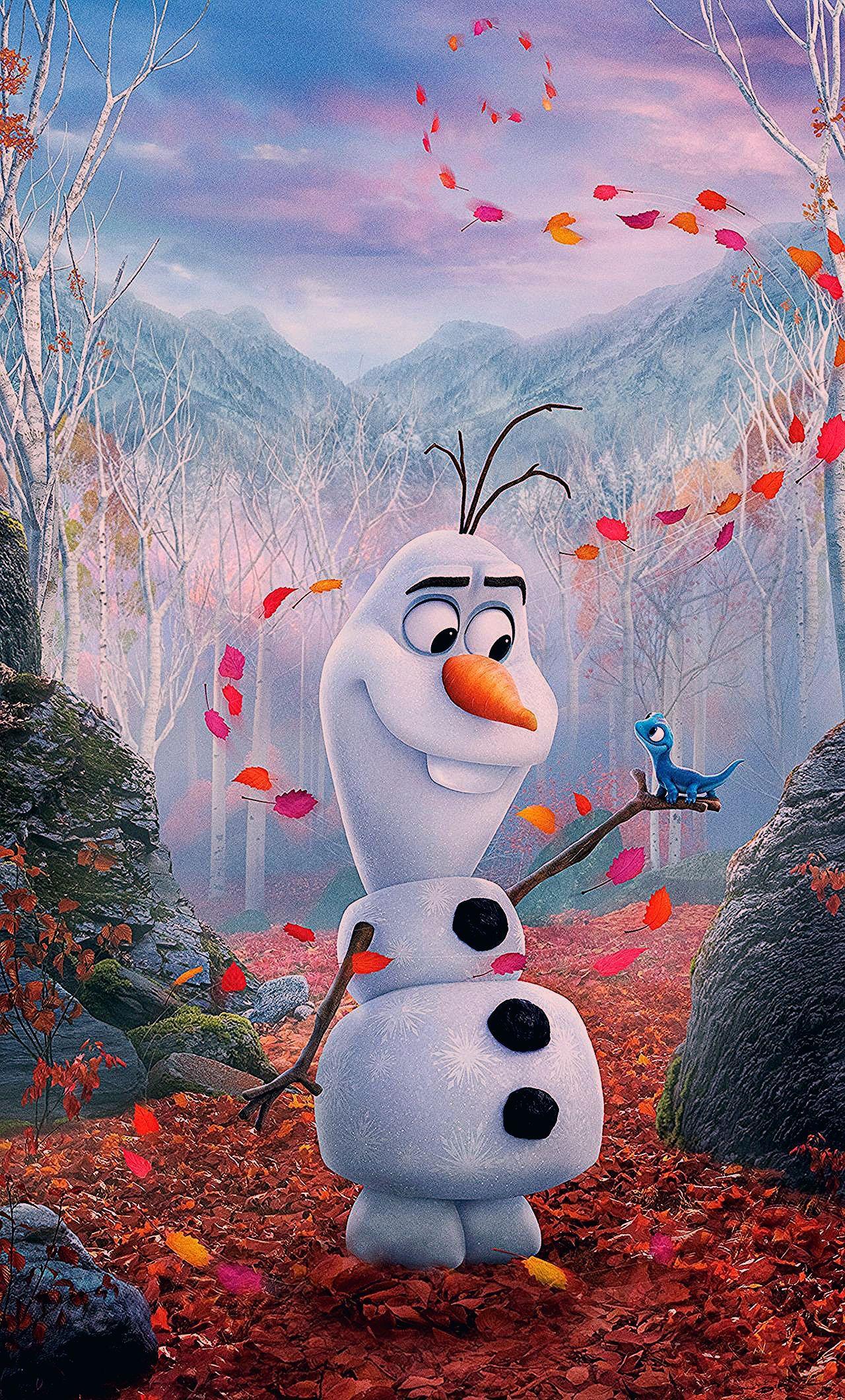 1280x2120 Happy Snowman, Olaf, Frozen 2, movie, 2019 wallpaper