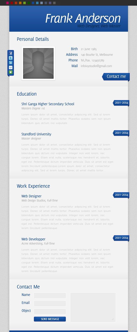 Resume Lay Out 10 Beautiful Resume Html Templates  Pinterest  Resume Layout .