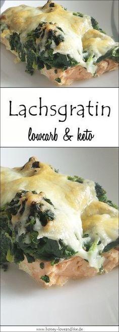 Photo of Ketogenes Lowcarb Lachsgratin mit Blattspinat und viel Käse