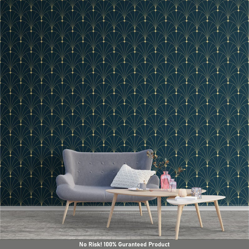 Removable Abstract With Royal Dark Color Wallpaper Fountain Etsy In 2020 Colorful Wallpaper Dark Colors Wallpaper