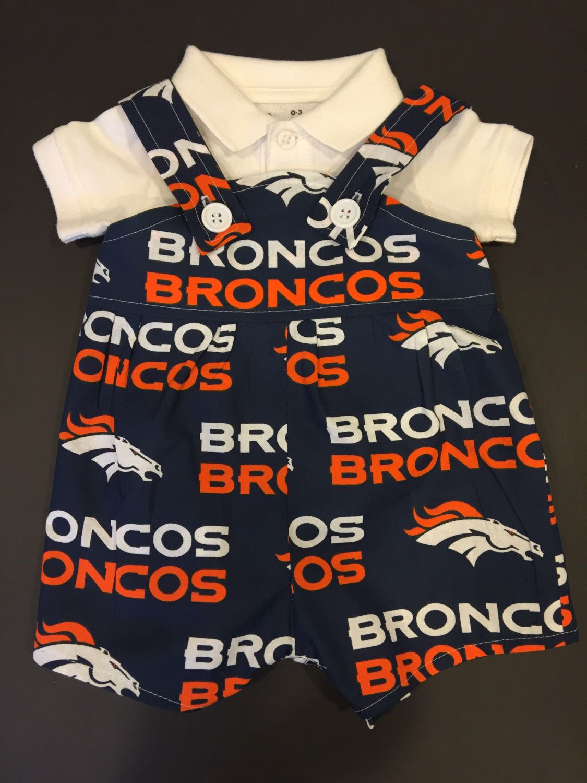 NFL Denver Broncos Baby Infant Toddler Boys Jumper Overalls *You Pick Size*