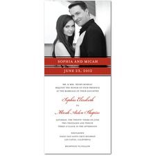 Picturesque Bands Wedding Cards: WPD