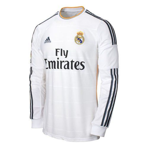 Adidas Real Madrid Long Sleeve Home Jersey 2013 2014 L Adidas Http Www Amazon Com Dp B00d3jw4o0 Ref Cm Sw R Pi Dp Camisetas Retro Ropa De Adidas Camisetas