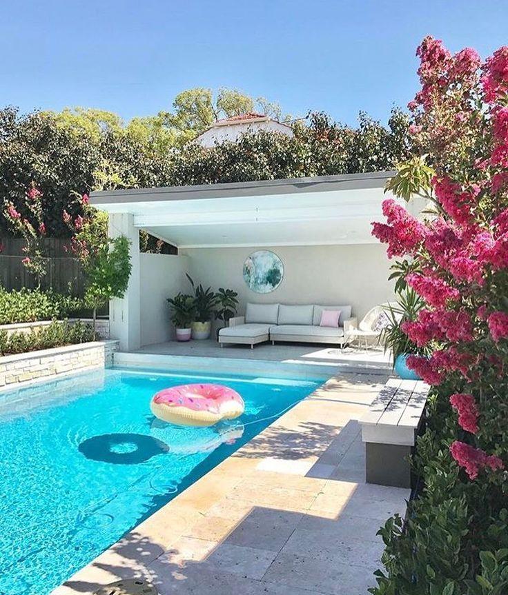 Decor Pools Rectangle Travertine Read More Backyard Pool