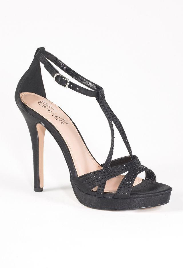 6cd0f3bf2bf High Heel Platform Satin Sandal with Rhinestones from Camille La Vie ...
