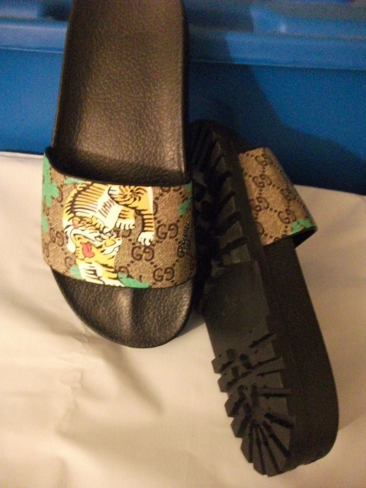 61db0766858c Men s Gucci Sandals Slides TIGER NEW us size 8.5 to 9  fashion  clothing   shoes  accessories  mensshoes  sandals (ebay link)