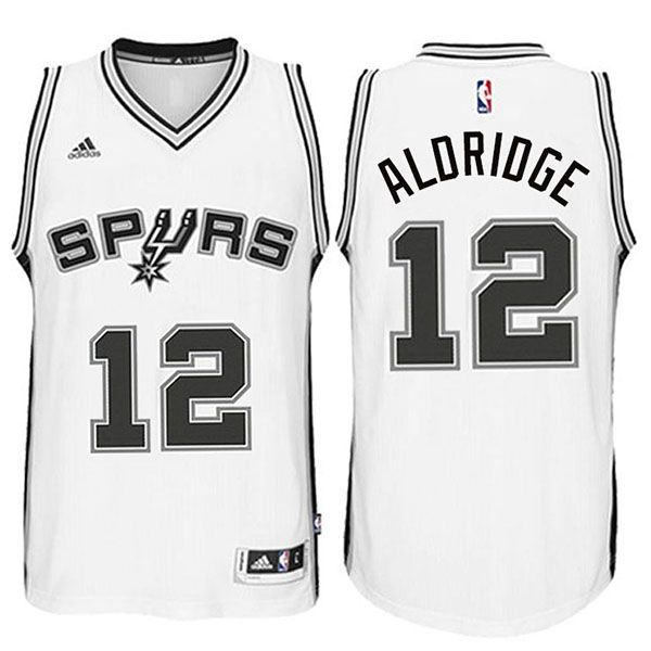 super popular ef75a 401d6 LaMarcus Aldridge #12 San Antonio Spurs Home White Swingman ...
