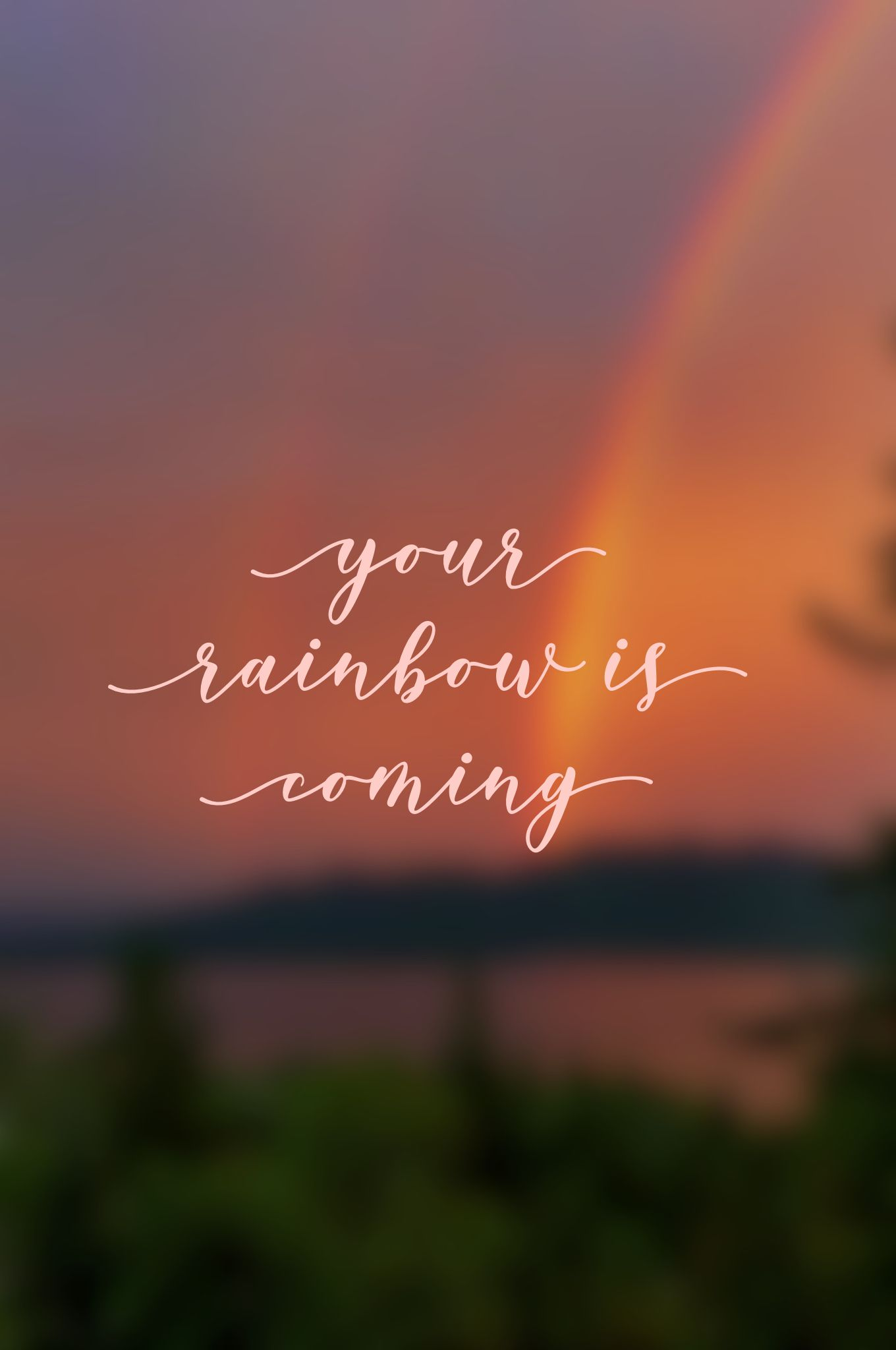 Rainbow Rainbow Quote Caption Quotes Uplifting Quotes