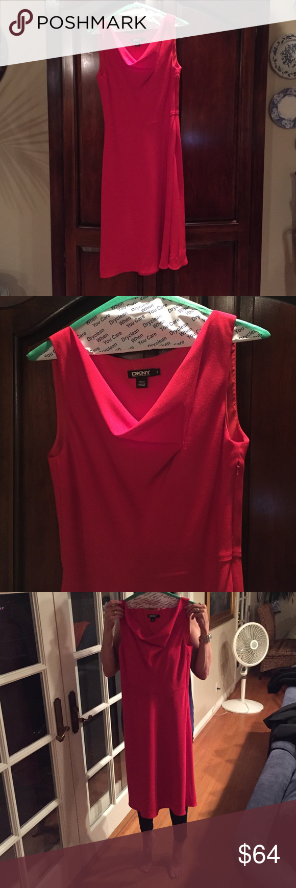 Dkny Holiday Dress Donna Karen New York Size Y Yet Cly Red Perfect For Any Figure Wear To The Office Or Over Holidays