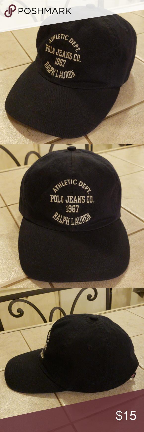 9f85214afe919 Polo Jean s Co. Ralph Lauren 1967 Adj. Hat Blue Athletic Dept. Polo Jeans