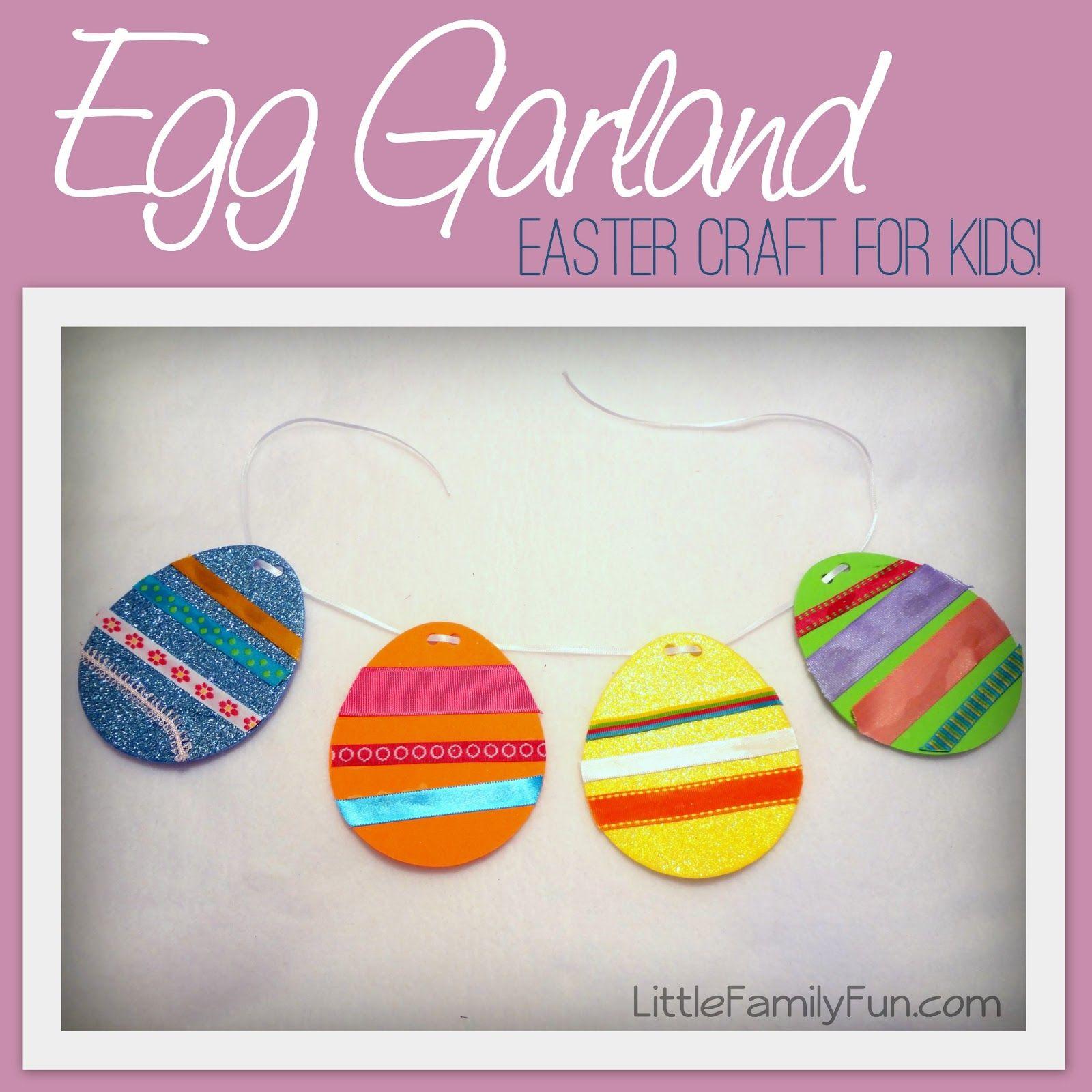 Little Family Fun: Easter Egg Garland