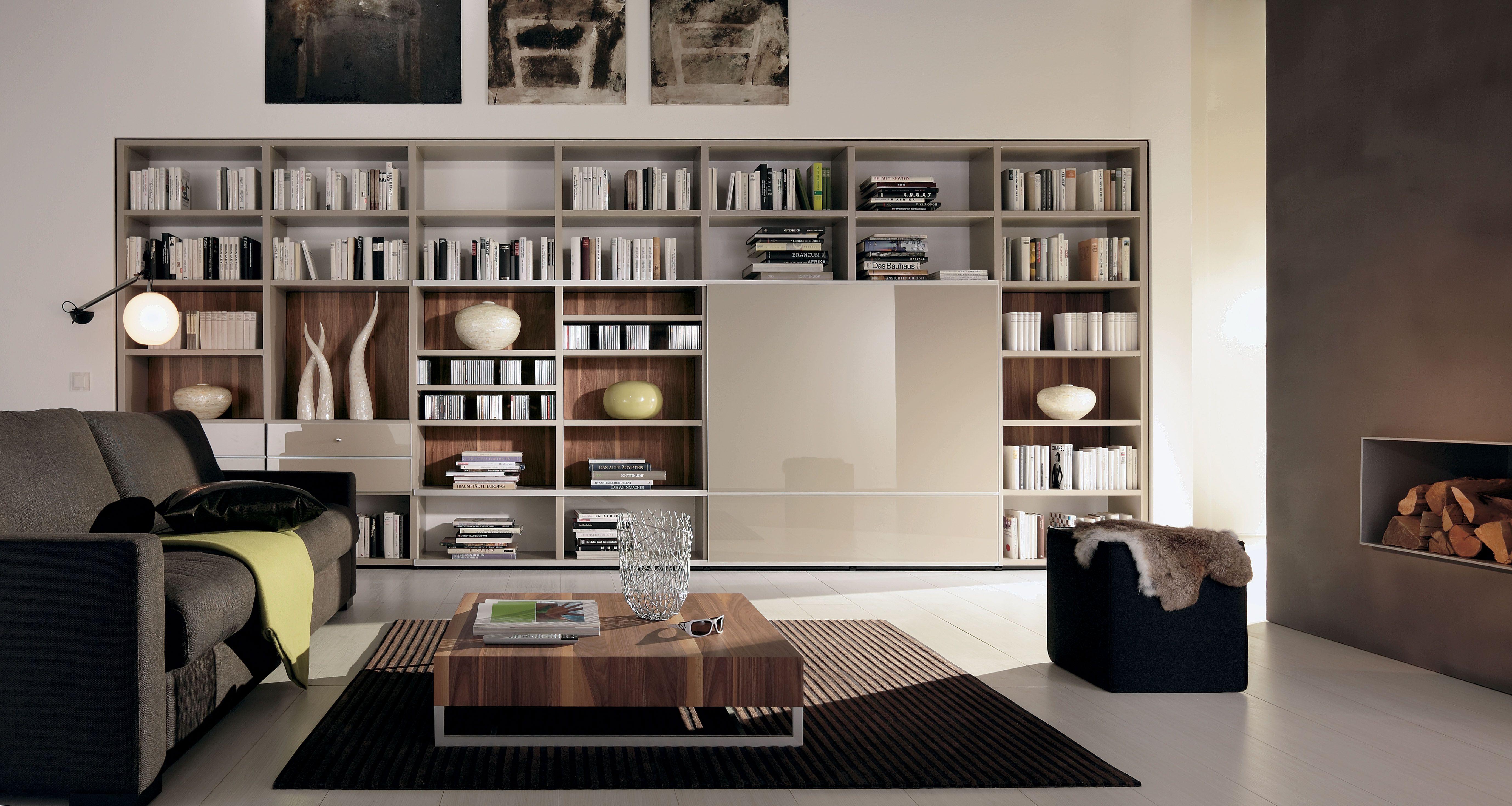 Bewundernswert Wohnzimmer Regale Und Bücherschränke Artwork Design ...