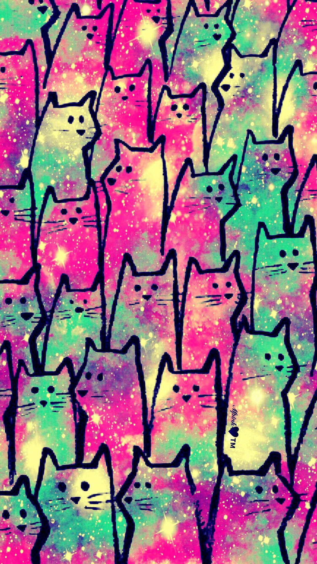 Kitty Cat Party Galaxy Wallpaper androidwallpaper