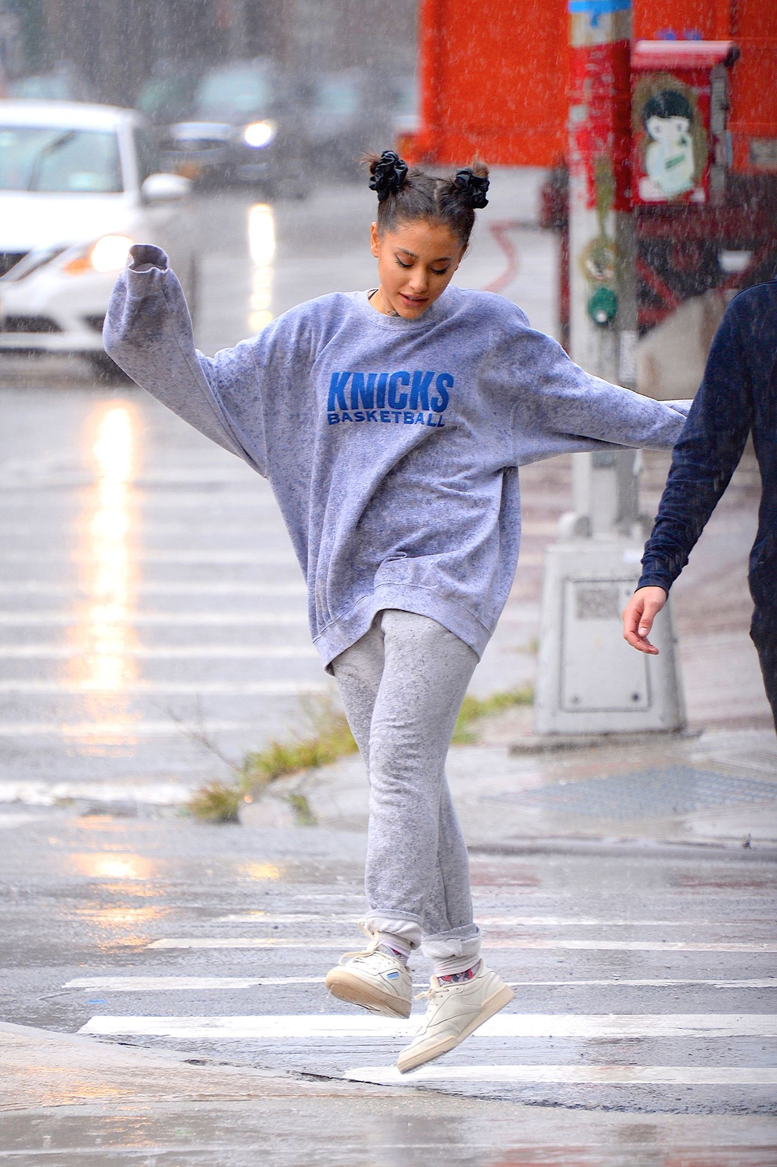 Ariana Grande Danced in the Rain Yesterday During