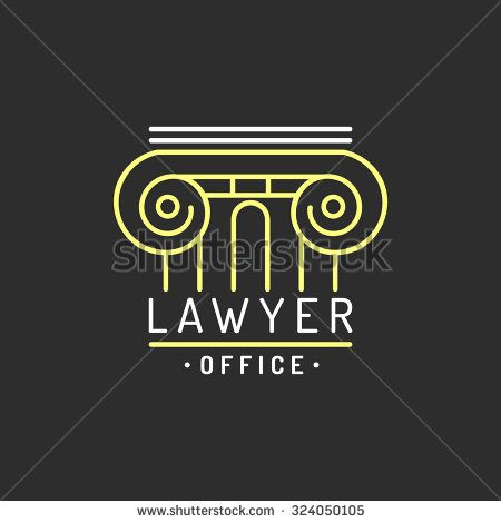 law office logo vector vintage lawyer logo law firm label lawyer logo template martha